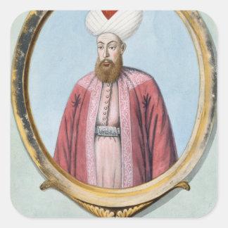 Amurath (Murad) I (1319-89), sultán 1359-89, de Pegatina Cuadrada
