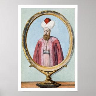 Amurath (Murad) I (1319-89), sultán 1359-89, de Póster