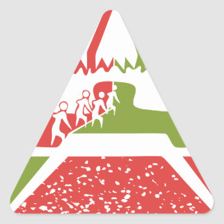 amusement circus tent triangle sticker