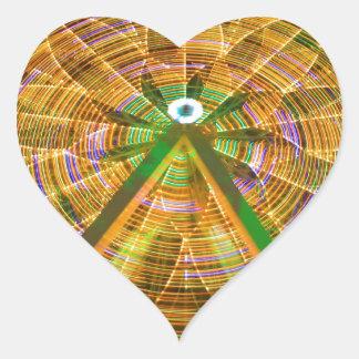 Amusement Ferris Wheel Heart Sticker