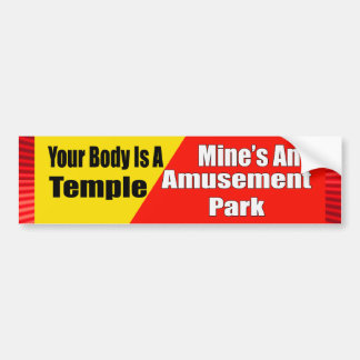 Amusement Park Body Bumper Sticker Car Bumper Sticker