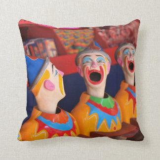 Amusement Park Clown Pillow