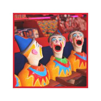 Amusement park Clown Water Game Canvas