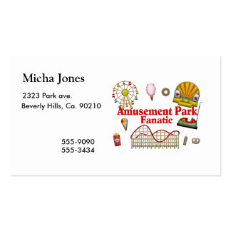 Amusement Park Fanatic Double-Sided Standard Business Cards (Pack Of 100)