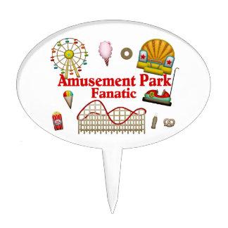 Amusement Park Fanatic Cake Topper