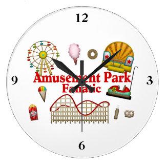 Amusement Park Fanatic Wall Clocks
