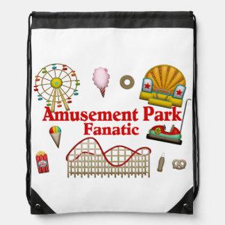 Amusement Park Fanatic Drawstring Bag