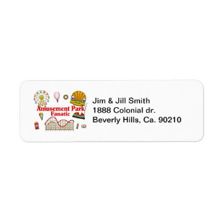 Amusement Park Fanatic Label