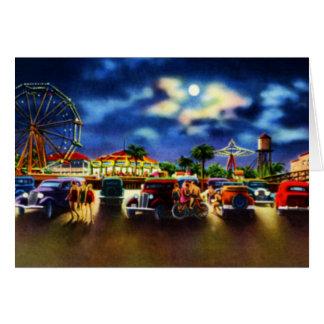 Amusement Park Folly Beach South Carolina Greeting Card