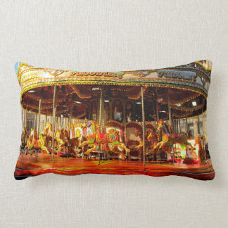 Amusement Park Horse Carousel throw pillow