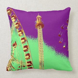 amusement park in amsterdam posterize effect photo pillow