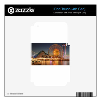 Amusement Park Lights Skin For iPod Touch 4G