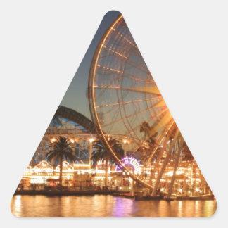 Amusement Park Lights Triangle Sticker