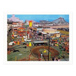 Amusement Park, Long Beach, California, Vintage Postcard