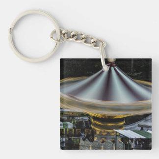 Amusement Park Merry Go Round Ride Photo Keychain