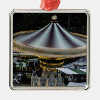 Amusement Park Merry Go Round Ride Photo Ornaments