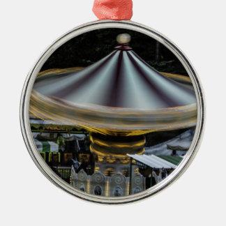 Amusement Park Merry Go Round Ride Photo Christmas Tree Ornament