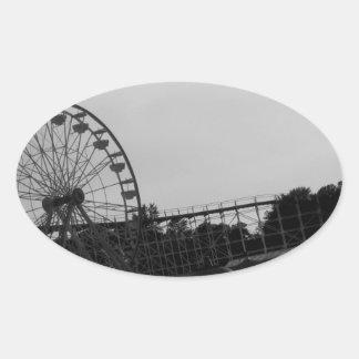 Amusement Park Oval Sticker