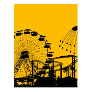 Amusement park postcard