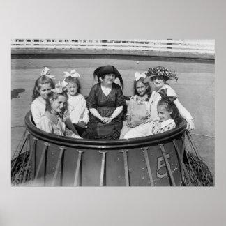 Amusement Park Ride, 1921 Posters