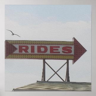 Amusement Park Rides Poster