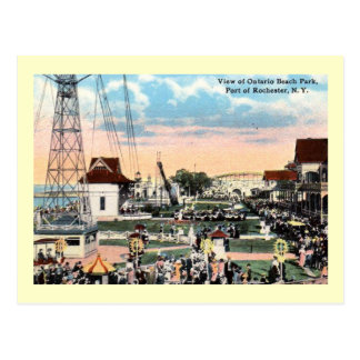 Amusement Park, Rochester, New York Vintage Postcard