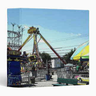 Amusement Park Roller Coaster Old Orchard Beach ME 3 Ring Binder