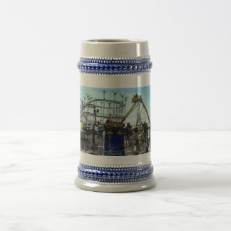 Amusement Park Roller Coaster Old Orchard Beach ME Beer Stein