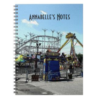 Amusement Park Roller Coaster Old Orchard Beach ME Notebook