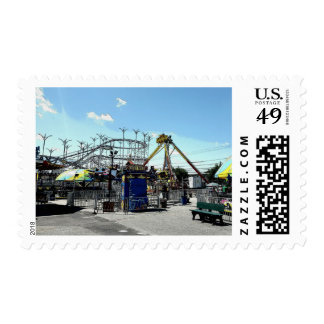 Amusement Park Roller Coaster Old Orchard Beach ME Postage