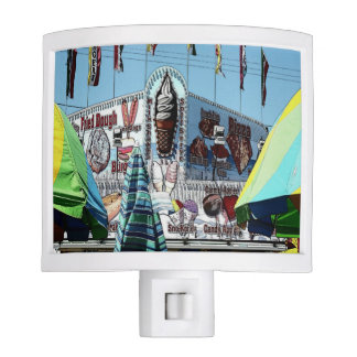 Amusement Park Snack Stand Old Orchard Beach Maine Night Light