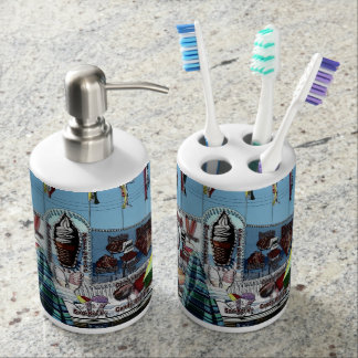 Amusement Park Snack Stand Old Orchard Beach Maine Soap Dispenser & Toothbrush Holder