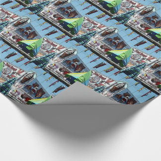 Amusement Park Snack Stand Old Orchard Beach Wrapping Paper