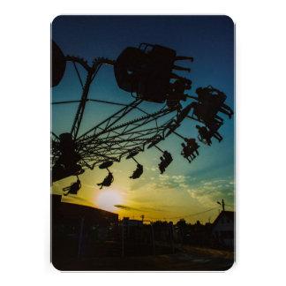 Amusement park sunset invitation