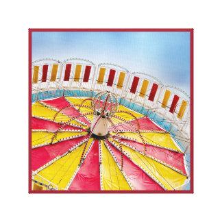 Amusement park Tilt-a-wheel ride canvas