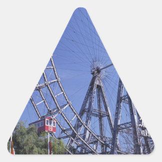 Amusement park triangle sticker