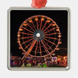 Amusement park wheel metal ornament