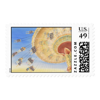 amusement ride postage stamps