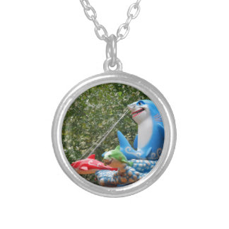 Amusement Ride Silver Plated Necklace