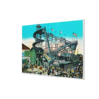 Amusement Rides at the Pike, Long Beach Canvas Print