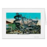 Amusement Rides at the Pike, Long Beach Greeting Card