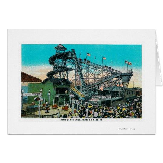 Amusement Rides at the Pike, Long Beach Card