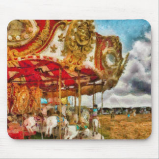 Amusement - The Merry-go-round Mouse Pad