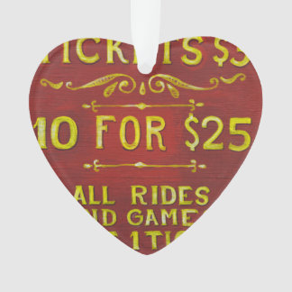 Amusement - Tickets 3 Dollars