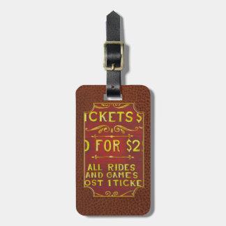 Amusement - Tickets 3 Dollars Bag Tag