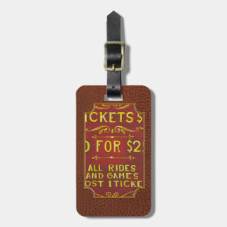 Amusement - Tickets 3 Dollars Tag For Bags