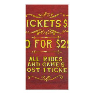 Amusement - Tickets 3 Dollars Photo Card