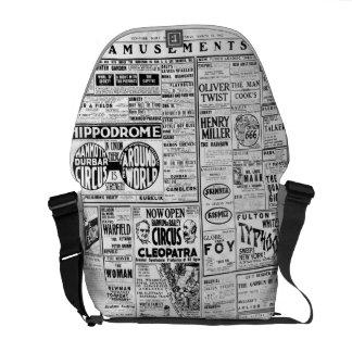 AMUSEMENTS Barnum Bailey Eddie Foy Geo M Cohan Messenger Bags