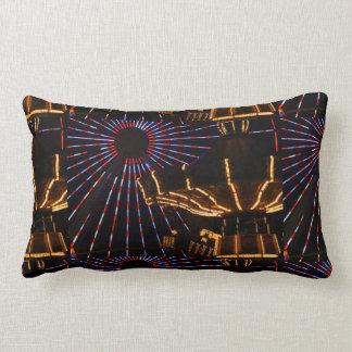 Amusements In Lights Lumbar Pillow