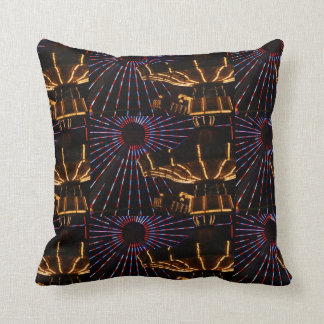 Amusements In Lights Throw Pillow
